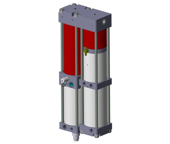 Pneumo-hydraulic power unit in parallel - compact version
